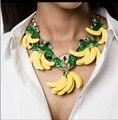 2016 outono e inverno conjunto de colar retro cadeia de moda clavícula exagerada barroco folha de bananeira 1244