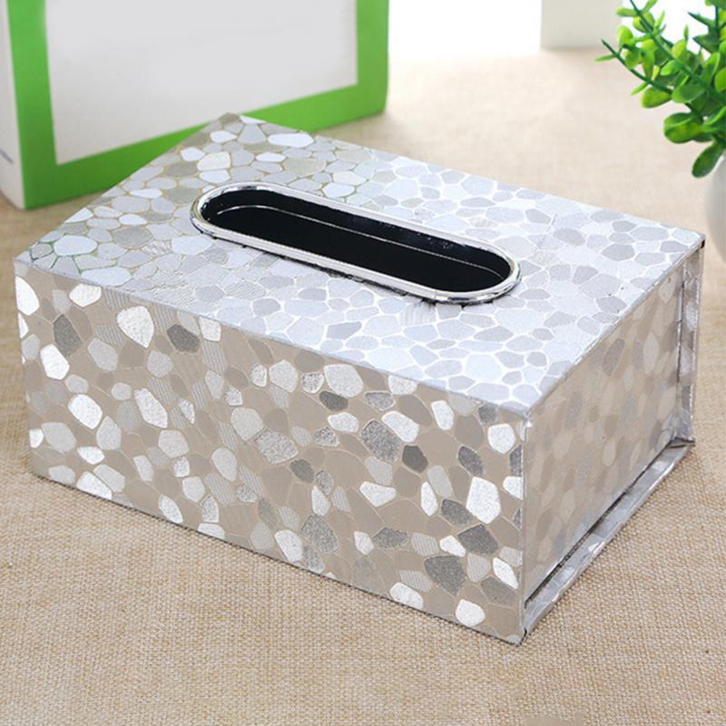 Paper Rack Elegant Car Fashion Home Rectangular PU Leather Shaped Tissue Box Container Towel Napkin Tissue Holder