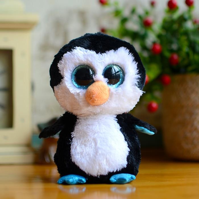 Ty Big Eyes Black Waddles Penguin Plush Toys Beanie Boos Dolls Kids