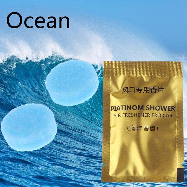 5 Packs Car Styling Air Freshener Aroma Solid Perfume Lemon Peach Ocean Lavender Cologne Flavoring Auto Interior Fragnace Sachet 4