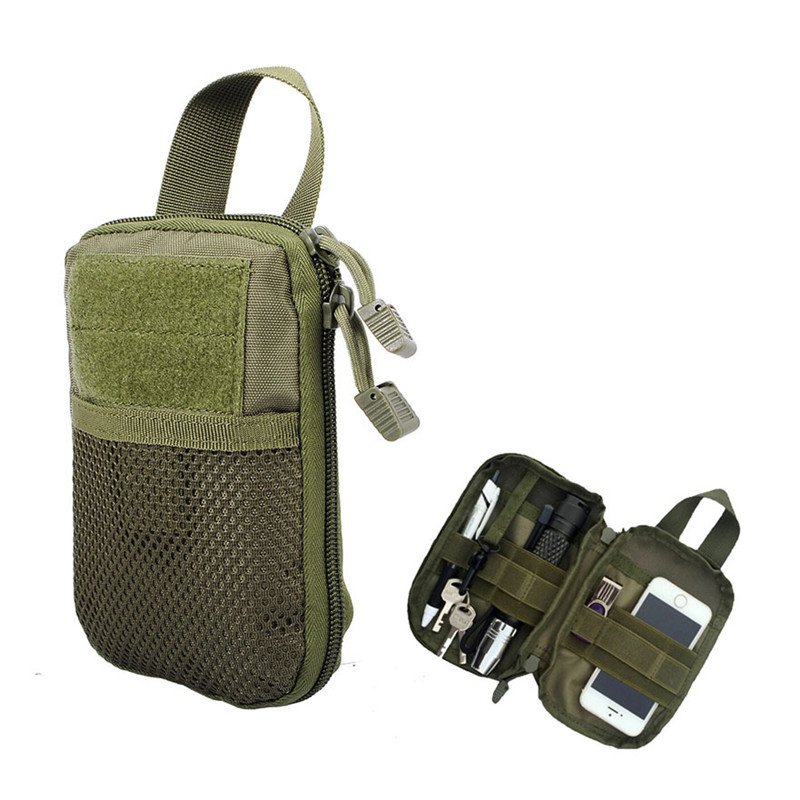 1000D Military Nylon EDC Pouch Molle Mesh Tools Accessory Pouches Outdoor Hunting Waist Bags Multi-purpose Storage Pocket