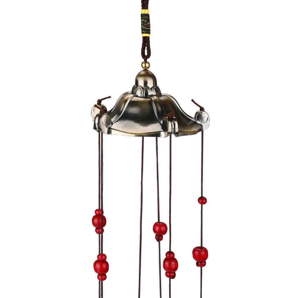 大風チャイム鐘銅管屋外ヤードガーデンホームデコレーション飾り新銅風鈴五角形パビリオン A30617
