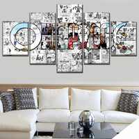 Modern Artwork Top-Rated Canvas Print Painting 5 Pieces Anime One Piece Artistic Poster Logo Picture Wall Art Home Decorative