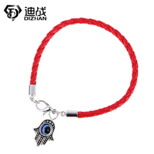 leather bracelet 3 color bracelets Evil Eye Hamsa hand charm bracelets Bohemian bangles for women Christmas gift wholesale