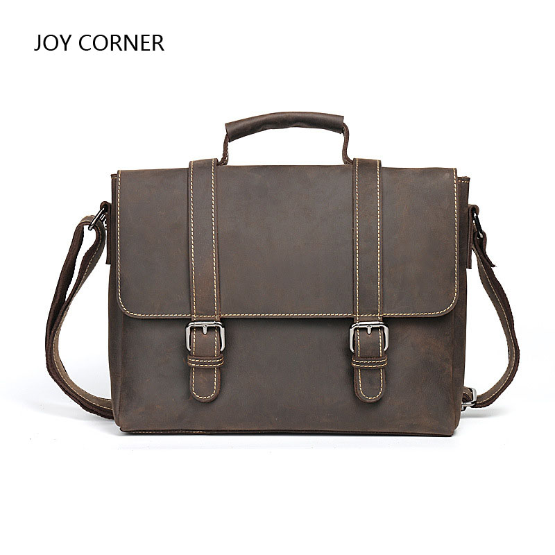 Pure Leather Tote File Folder Luxury Business Document Bag Filing Meeting Handbag Zipper Layer Pocket Office Briefcase Supplies