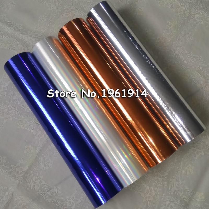 32cm 1 Roll Hot Stamping Foil Paper Holographic DIY Crafts Gilding Stamp Foils Hot Gold Foil