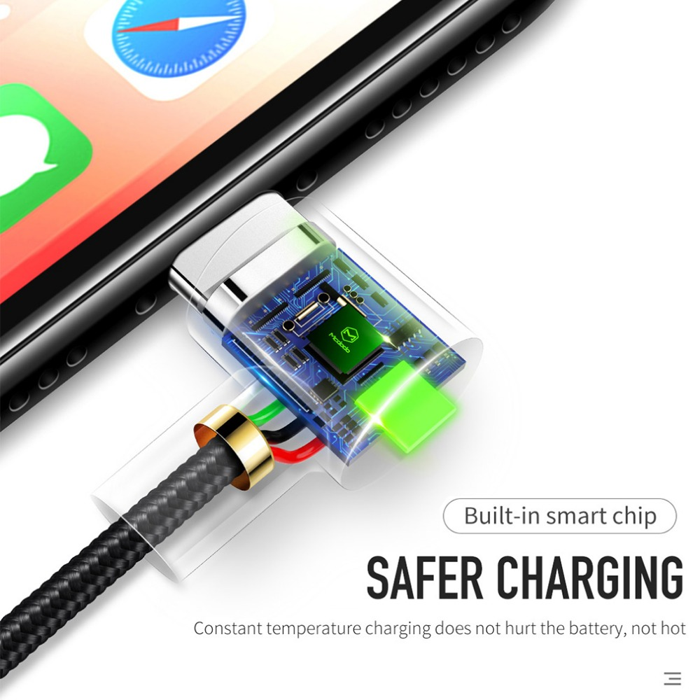 Image 5 - Mcdodo USB Cable For iPhone X 8 7 6s 5 Plus Lightning to USB Cable Fast Charging Mobile Phone Charger LED Light Cord Adapter-in Mobile Phone Cables from Cellphones & Telecommunications on