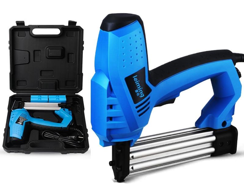 цены Electric Straight U Type Nail Gun Dual Purpose Nail Gun Woodworking Tools 2000W 220V