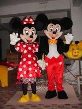 Sommer heißer verkauf!! Neue Erwachsene 2 stücke minnie maus maskottchen kostüm mit anzüge schuhe hände phantasie party kleid Halloween kostüm