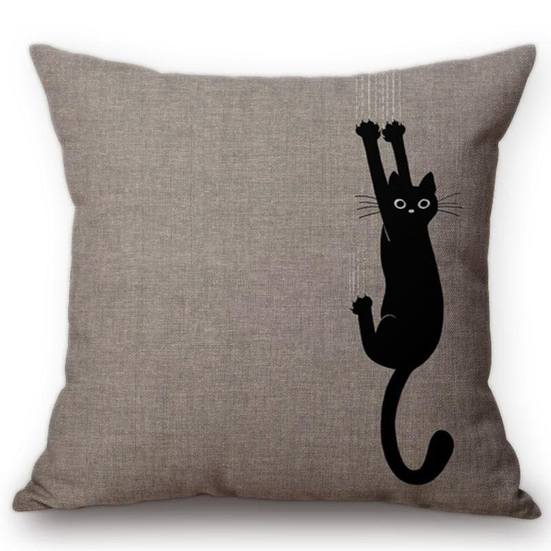 Cotton Linen Cushion Cover Square Pillowcase Home Office Sofa Decoration Cute
