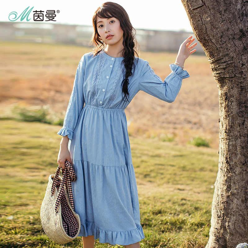 INMAN New Products Women Spring Cotton Dress