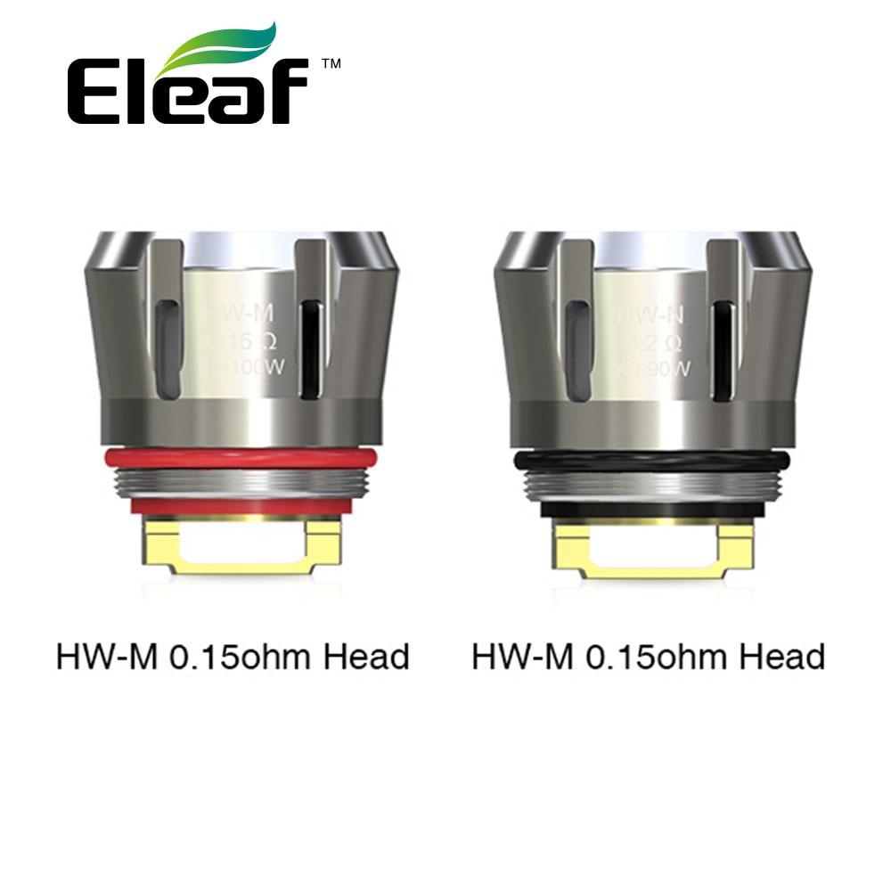 5PCS/lot Original Eleaf HW-M Head 0.15ohm HW-N Head 0.2ohm Coil HW M HW N Coil Evaporator For Eleaf IJust 3 Kit ELLO Duro Tank