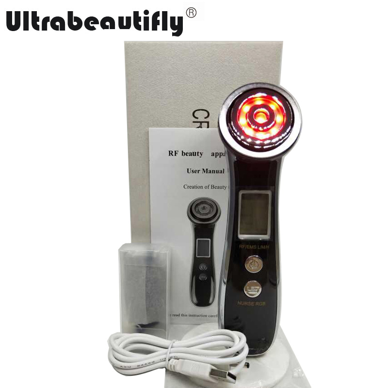 Mini Electroporation Mesotherapy EMS RF Led Photon Rejuvenation Skin Tightening Lifting Wrinkle Removal Facial Firming Machine