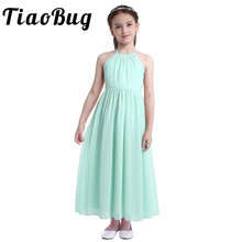 4 14 Girls Chiffon Flower Girl Dress Kids Pageant Party Ball Gown Prom Princess Formal Occassion floral dress for Wedding Bride