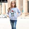 LouisDog Fleece Sweatshirt for Teenage Girls Kids Warm Drop Sleeve Loose Fit Sweatshirts for Autumn Winter Children's Svitshot