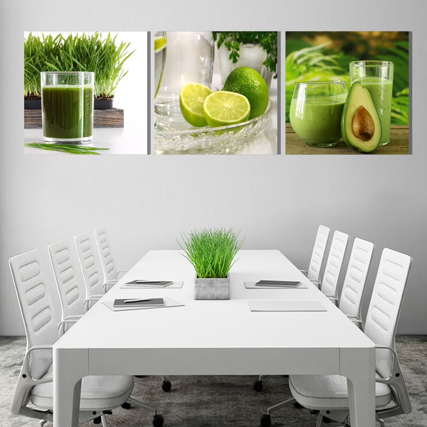 CANVAS PAINTING Modern Lemon green natural fruit On Wall s
