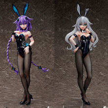1pcs Anime FREEing Hyperdimension Neptunia Purple Heart Neptune Black Heart bunny sexy girl ver. 1/4 pvc action figure model Toy