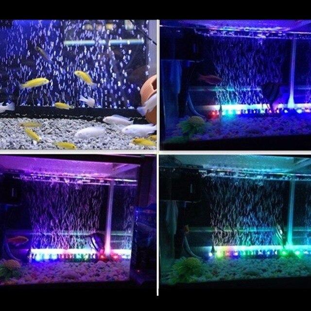Aquarium 31CM Waterproof Light Stip  For Fish Tank + 24 Keys RC Remote( EU Plug)