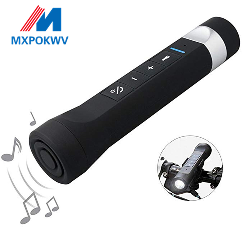 Sport Multi function Torch Music Player Portable Wireless Bluetooth Speaker With Fm Radio SD Mp3 Power Bank Flashlight in Portable Speakers from Consumer Electronics