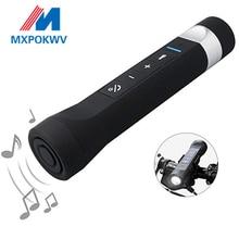 Sport Multi-function Torch Music Player Portable Wireless Bluetooth Speaker With Fm Radio SD Mp3 Power Bank Flashlight цена и фото