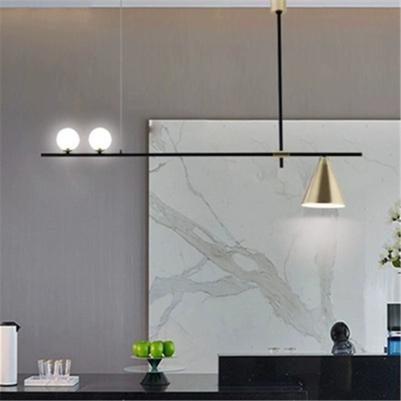Nordic Minimalist Magic Beans Pendant Lamp Concise Parlor Music Restaurant Coffee Dining Table Kitchen Led Suspension Lighting image