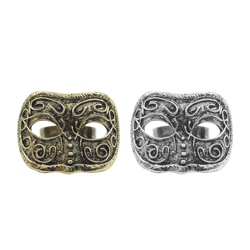2018 New Jewelry Design Punk Style 2 Colors Antique Silver Bronze Vintage Mask Rings For Women Gifts Free Shipping Wholesale