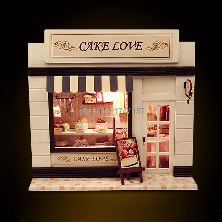 Doll House Cake Images : Christmas Birthday Gift, Wooden Miniature DIY Dollhouse ...