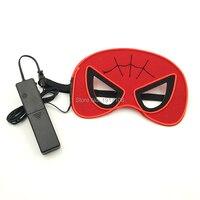 Commercio all'ingrosso Super hero Mascherina Del Partito di Halloween Hulk Super man Spider-Man 3 V Suono Attivato ballo in maschera Capelli Feltro maschere