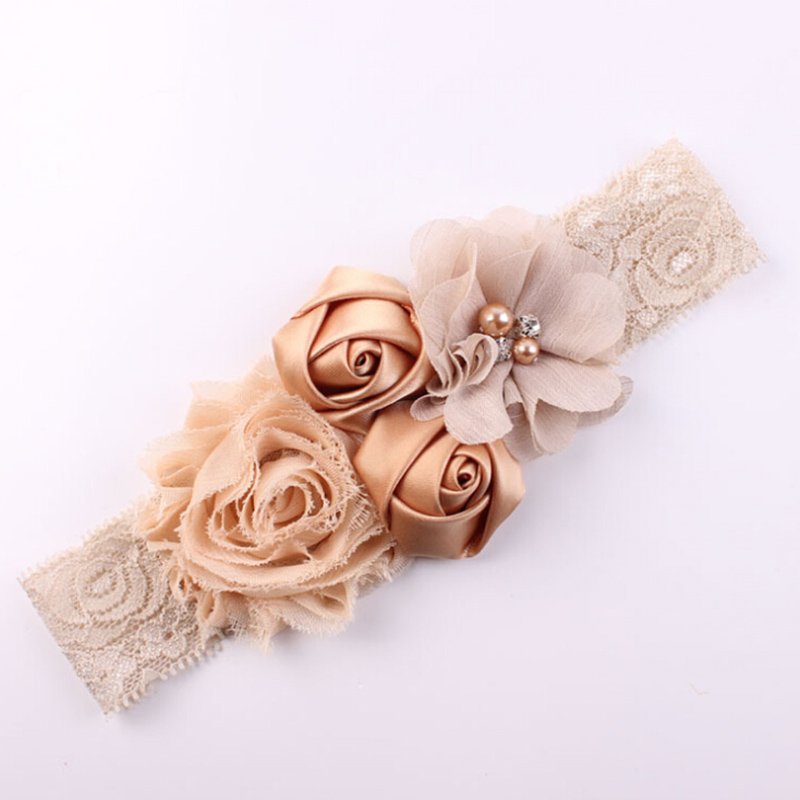 2018 Жаңа кружева Baby Headband Chic Lace Mix 4 Flower Princess Қыздар Headband Hair Bow Headband Baby Girl Балалар Шаш Аксессуарлар