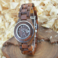 BEWELL Hot Sell Women Elegant Watches 2016 Women Waterproof Watch Ladies Wooden Quartz Wristwatches  With Paper Box 100AL