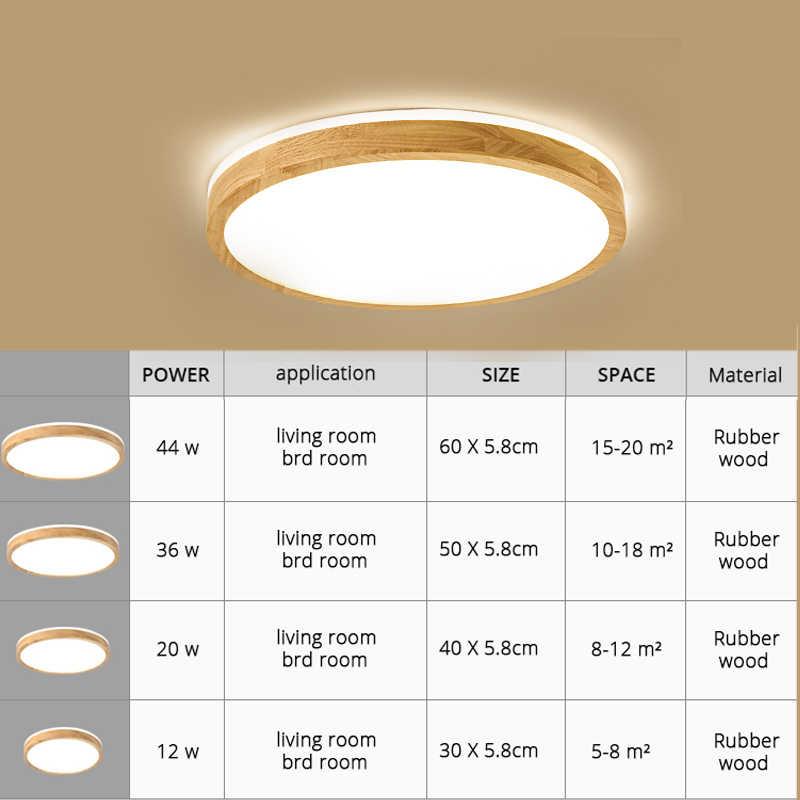 Светодиодный потолок светлого дерева круглый квадратный для Гостиная Внутреннее освещение для спальни светильник лампа для открытого монтажа удаленного Управление затемнения