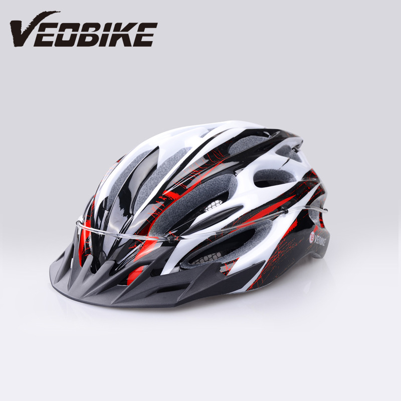 VEOBIKE MTB Road Cycling Helmet Integrally-molded LED Bicycle Helmets Mountain Capacete Casco Ciclismo Size 57-62cm Bike Helmet ultralight red protone bicycle helmet aero capacete road mtb mountain xc trail bike cycling helmet 52 58cm casco ciclismo helmet
