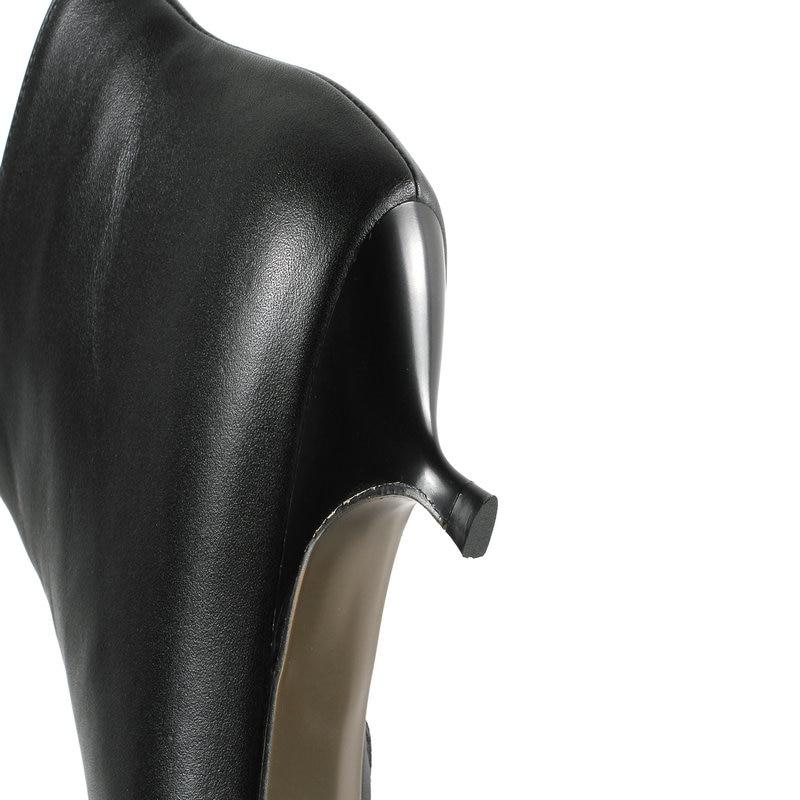 4 41 Boda Led Tobillo negro Cuero Genuino La Nuevo 42 Tacones Negro Tamaño Fiesta Mujer Cm Beige De Zapatos Botas Beige Oficina 43 Vestido 6HEqq8