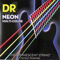 Dr k3 hi-def neon multicolorido luminescente baixo cordas de guitarra, luz 40-100 ou médio 45-105 ou 5 cordas 45-125