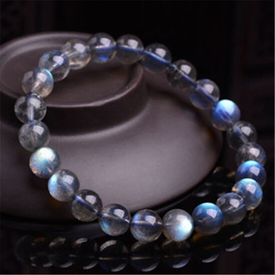 8mm Genuine Natural Blue Light Labradorite Gems Stone Crystal Round Bead Jewelry Bracelets For Women Charm Stretch Bracelet 8mm genuine natural purple sugilite crystal beads women lady fashion gems stone jewelry stretch bracelet