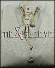 hot sale ivory rose polyester fashion waistcoat(vest+ascot tie+cufflinks+handkerchief)