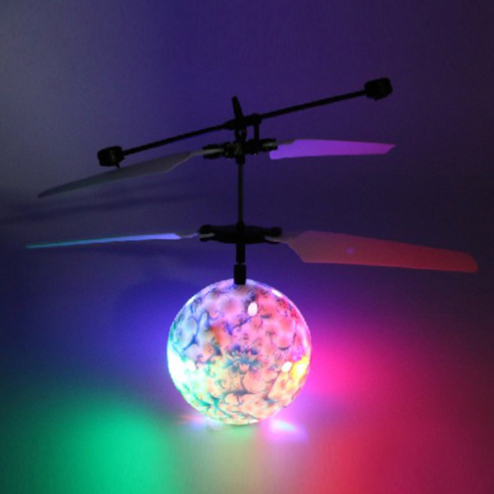 Colorful LED Flashing Infrared Induction Helicopter Flying Ball Disco Magic LED Ball Stage Lamp Children Toy