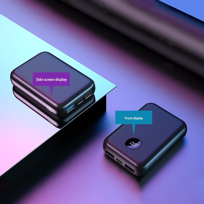 20000mAh Power Bank Tpye-C Intput Quick Charge Side Display Portable Charger Dual USB Fast Output 10000mAh Mini Powerbank