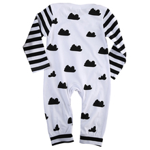 Toddler Baby Girl Boy Clothes Long Sleeve Bodysuit Jumpsuit Outfits , 0-18 Months