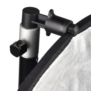 Image 3 - Gosear Aluminium Draagbare Foto Video Studio Fotografie Achtergrond Reflector Softbox Disc Houder Clip Voor Light Stand 55X73Mm