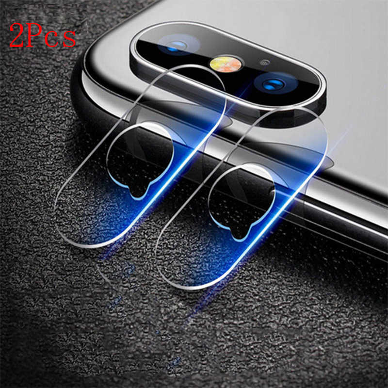 2 Pcs Tempered Glass For iPhone7 8 Plus Camera Len Protector Tempered Glass Screen Protector For iPhone X  Protective Soft Glass