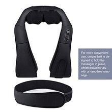 12 Massage Balls U Shape Electric Shiatsu Kneading Back Neck Shoulder Body 4D Infrared Heating Massager