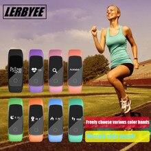 Lerbyee умный Браслет Bluetooth Спорт Водонепроницаемый часы Smart Монитор сердечного ритма браслет трекер для iOS и Android
