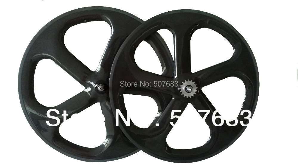 3k glossy finish 5 spoke wheelset 700c fixed gear clincher bicycle wheels 100% carbon fiber 28inch road bike rim - Xiamen Centra Industry & Trading Co., Ltd. store