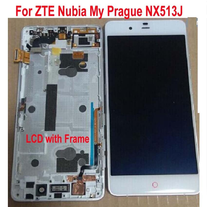 Original meilleur Wokring LCD panneau d'affichage écran tactile numériseur assemblée capteur + cadre pour ZTE Nubia ma Prague NX513J pièce de téléphone