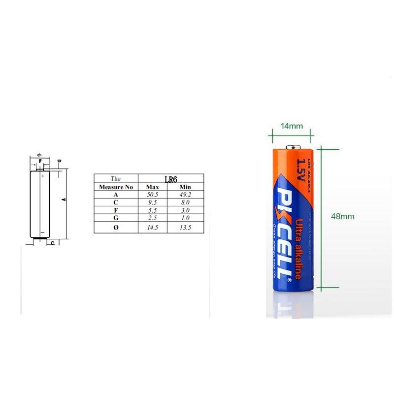 8 шт. PKCELL LR6 AA щелочная батарея упакована с батарейной коробкой 2 шт. для Walkman Toys Calaculators не перезаряжаемая AA батарея 1,5 в