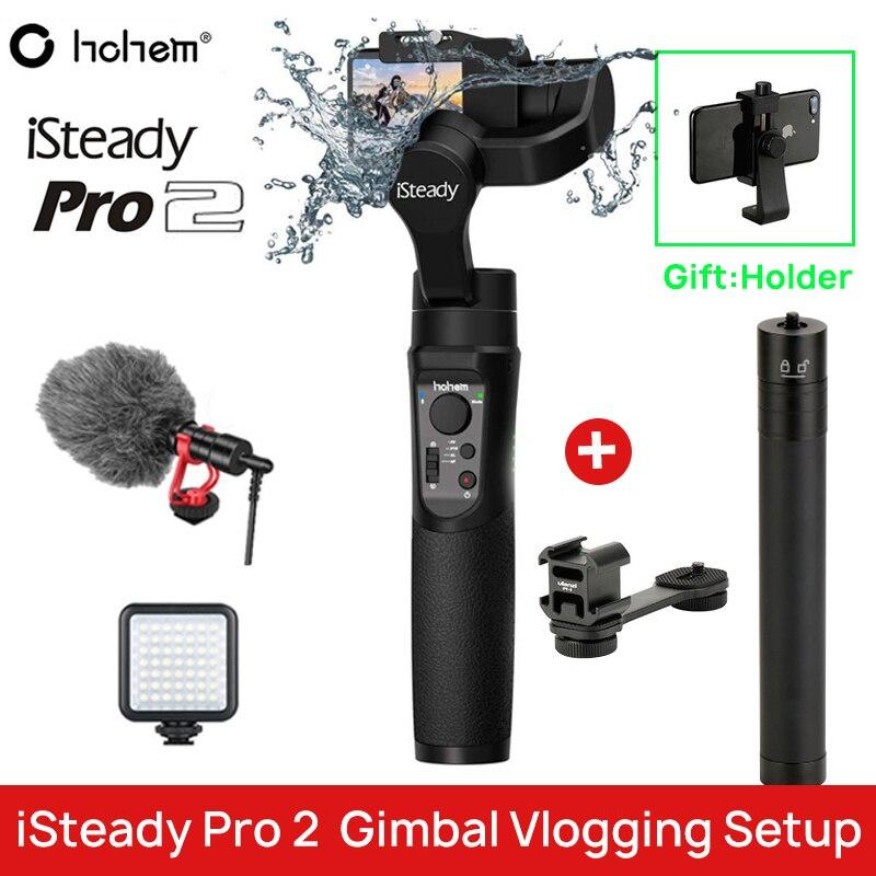 Ir pro Gimbal Hohem iSteady Pro Handheld Steadycam Estabilizador para GoPro Hero 7 2 6 Yi 4 K SJCAM DJI osmo Ação gopro acessórios