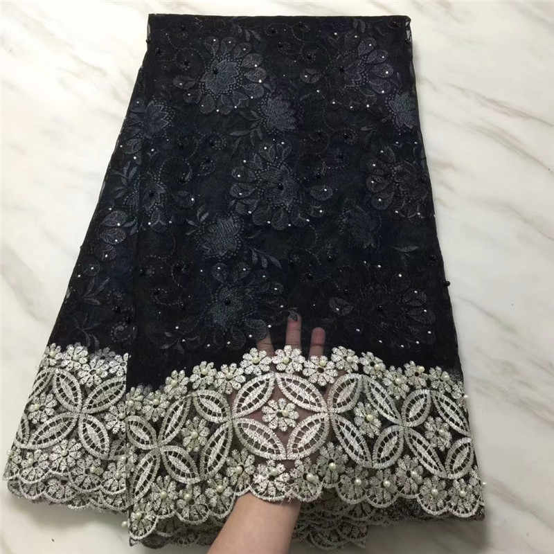 Cassiel Latest French Nigerian Laces Fabrics 2019 High Quality Lace African Laces Fabric African French Tulle Lace Material