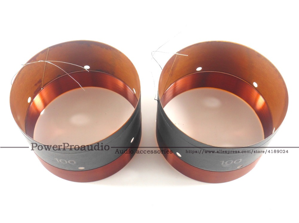 2PCS 100MM Bass Voice Coil Woofer With Sound Air Outlet Hole For 12 inch 18 inch