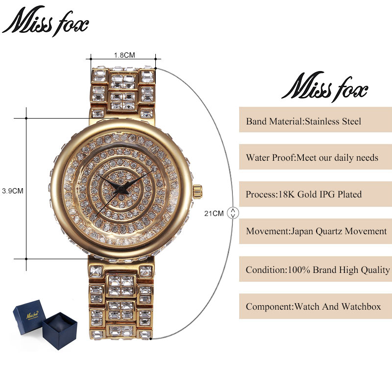 MISSFOX Miss Fox Merk Casual Dameshorloges Zilveren Armband Horloge - Dameshorloges - Foto 2